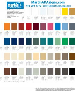 Colors for custom ada signs - You can call or email us if need quote