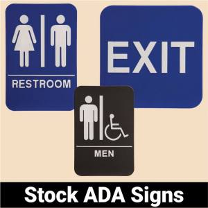 Stock ADA Signs
