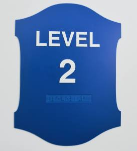 Blue Level 2 ADA Sign