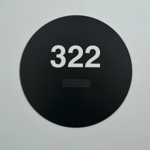 Circle Black ADA number sign braille