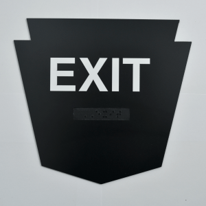 Exit Badge Custom shaped ADA Signage