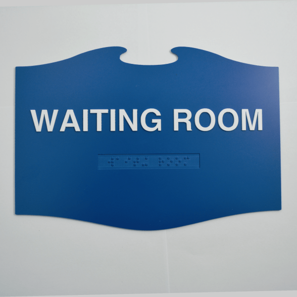 Waiting Room Blue Angel in Flight Custom Braille ADA shape Sign